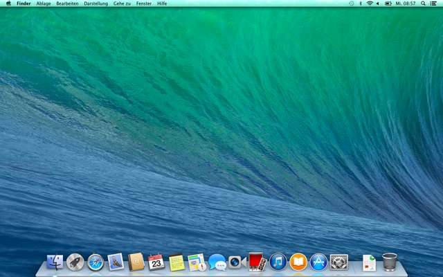 Fresh installed Mavericks